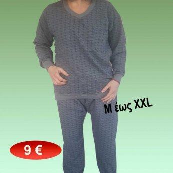 Ανδρικές πιτζάμες ζεστές Μεγέθη Μ-XXL 9 bf77f9e45ff