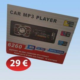 Mp3 player αυτοκινήτου USB SD CARD με ραδιόφωνο και ρολόι ψηφιακή ένδειξη