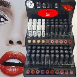 DEINA Ποιοτικά Lipstick με ενυδατικά συστατικά μακράς διάρκειας σε διάφορα μοντέρνα χρώματα.