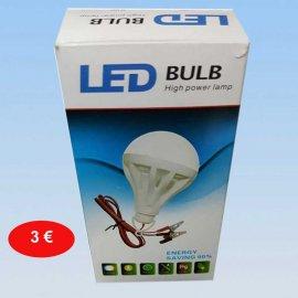 Λάμπα LED με φορτιστή μπαταρίας 5 watt